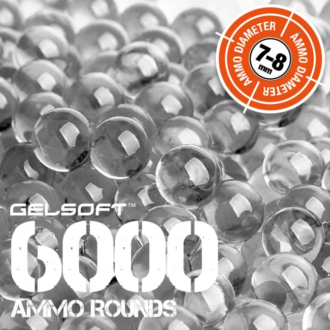 GelSoft 6000 Ammo Rounds 7-8mm