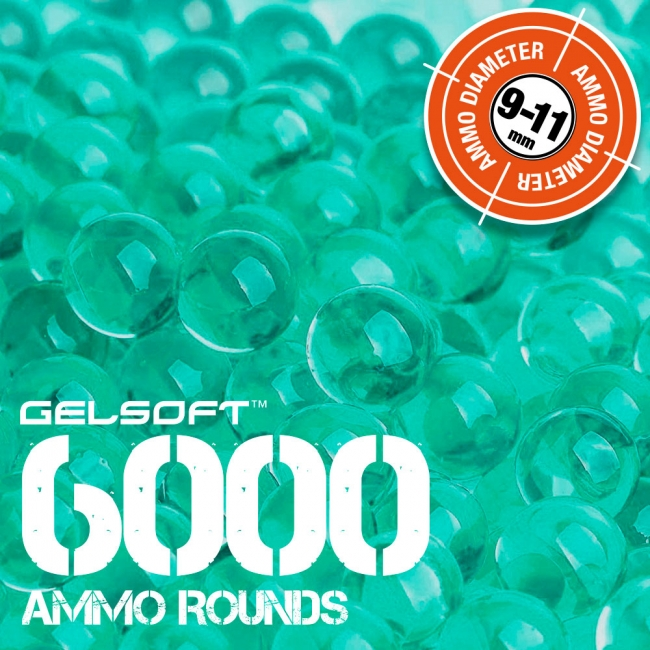 GelSoft 6000 Ammo Rounds 9-11mm