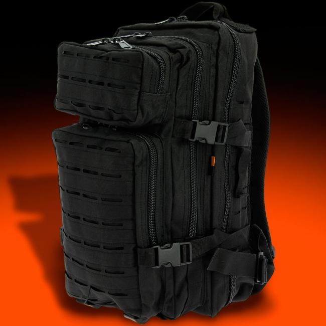 Black Stealth Sandstone Rucksack