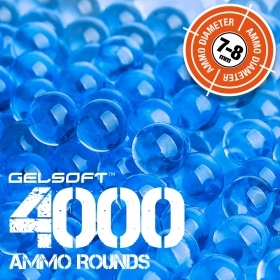 GelSoft 4000 Ammo Rounds 7-8mm