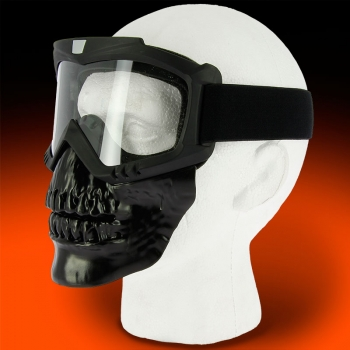 V3 Full Face Black Skull Mask Main Image