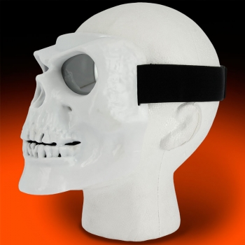 V3 Full Face White Skull Mask Main Image