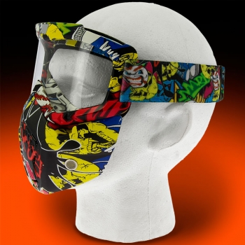 V3 Full Face Graffiti Mask Side View