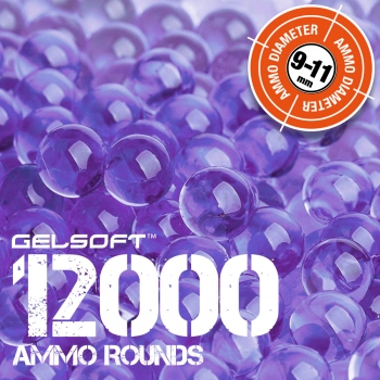 GelSoft 12000 Ammo Rounds 9-11mm