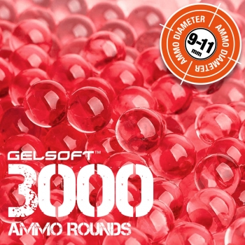 GelSoft 3000 Ammo Rounds 9-11mm