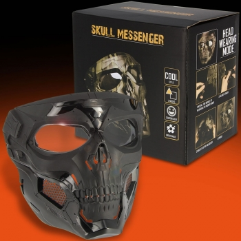 Skull Messenger Full Face Black Skull Mask