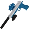 GelSoft Eagle Blue Silver Pistol