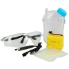 Protective eyewear, charger cable, battery pack, ammo and bottle